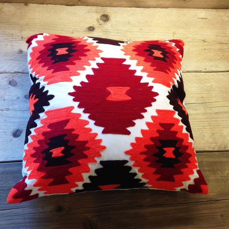 Terracotta Patterned Cushions Fair Trade | Little Trove
