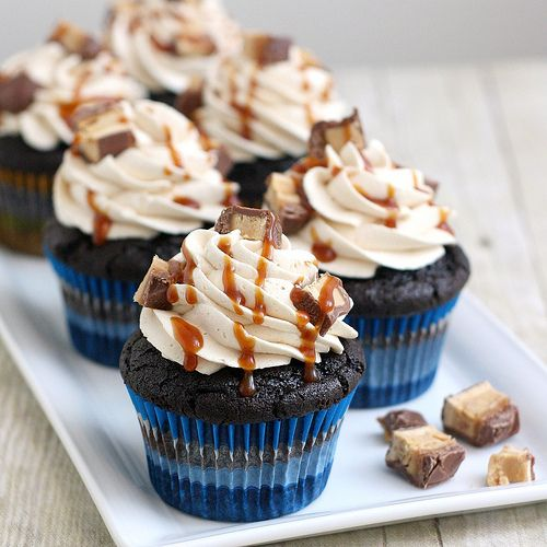 Peanut Butter Snickers Cupcakes by Tracey's Culinary Adventures, via ...