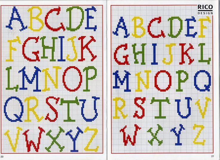 cross-stitch letters patterns | Cross Stitch Mania: Free Alphabet Cross Stitch Chart