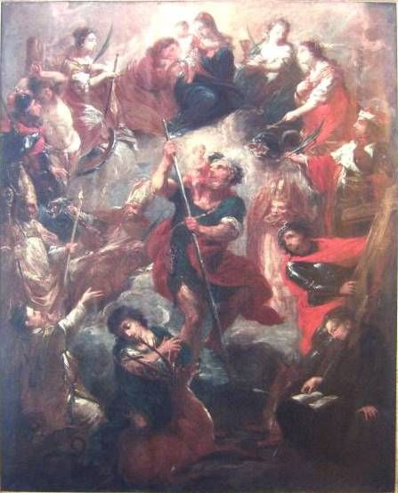 Michael Lucas Leopold Willmann (a dílna) - Svatá Rodina a 14 svatých pomocníků (před 1728, NG Praha)