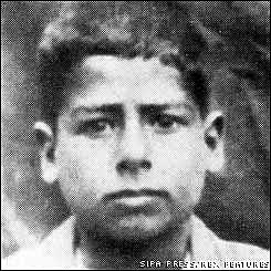 Saddam Hussein as a young boy.