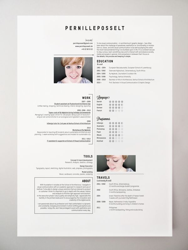 46 best Resume Inspiration images on Pinterest Page layout - graphic designer resume
