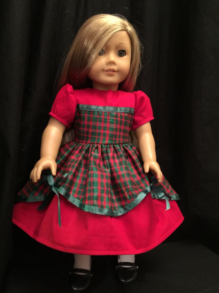 American Girl Doll Clothes: Elegant Christmas Dress