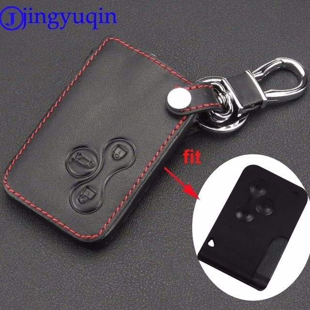 Jingyuqin 3 Buttons Leather Car Key Protection Case Cover For