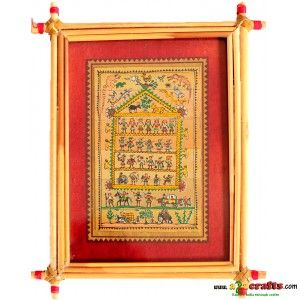 Talapatrachitra - Tribal Life - Palm leaf (Odisha) Painting - Rs 510 - Hand Made Crafts - Buy & Sell Indian Handmade Crafts and Handmade Jewelry and Gifts