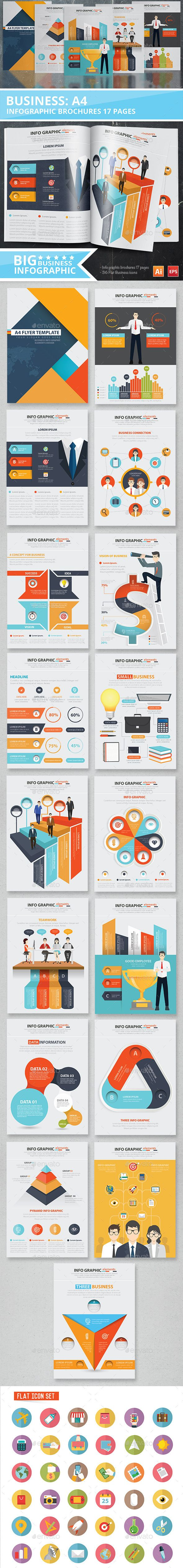 Business Infographic Design 17 Pages Template Vector EPS, AI illustrator #design Download: http://graphicriver.net/item/business-infographic-design-17-pages/12361700?ref=ksioks