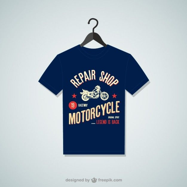 Repair shop t shirt Free Vector