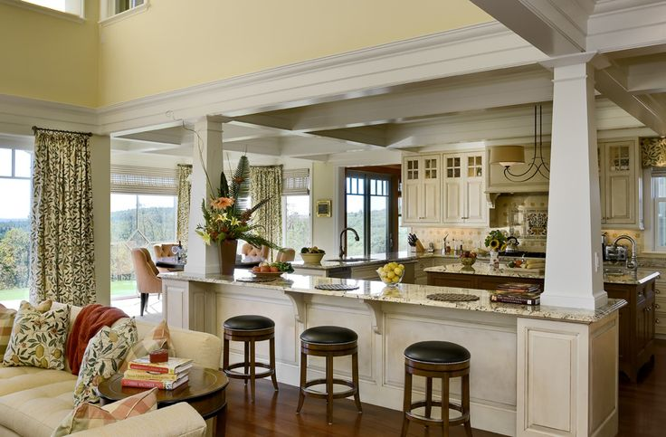 Gorgeous- love that you can be a part of everything going on in the living room from the kitchen.