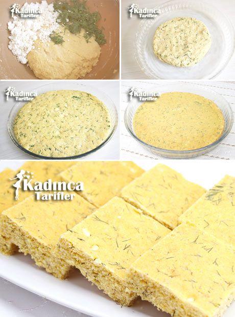 Peynirli Dereotlu Mısır Ekmeği Tarifi