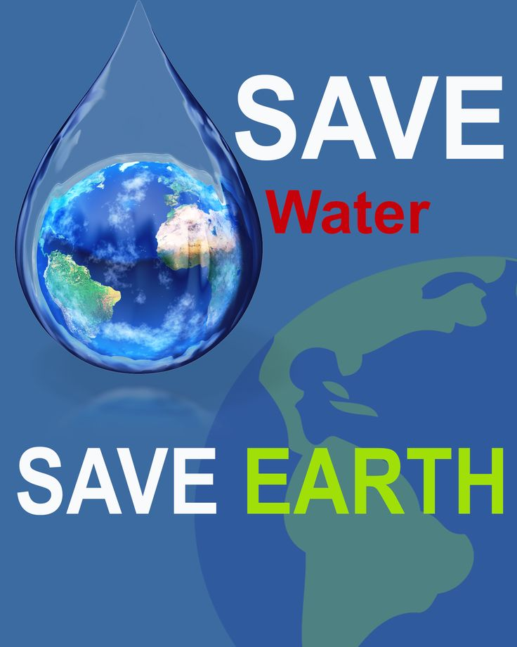 A public service message poster for save water on the earth..