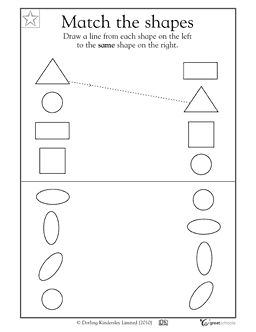 Printables Preschool Homeschool Worksheets 1000 images about preschool worksheets on pinterest zoo math activities match the geometric shapes greatschools