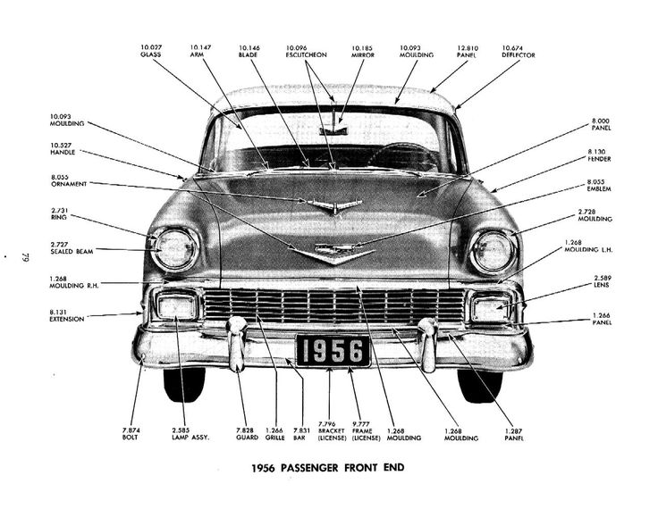 1956 chevy bel air parts catalog