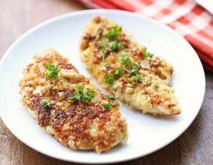 Healthy Pork Rind Crusted Chicken Tenders