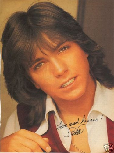 I had a huge poster of David Cassidy over my bed when I was a teenager.  Even saw him perform at the Nebraska State Fair, way before I could drive.  Quite the crush.