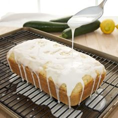LEMON ZUCCHINI BREAD: Zucchini, flour, baking powder, salt, sugar(splenda),eggs, canola oil, vanilla extract, lemon, confectioners sugar