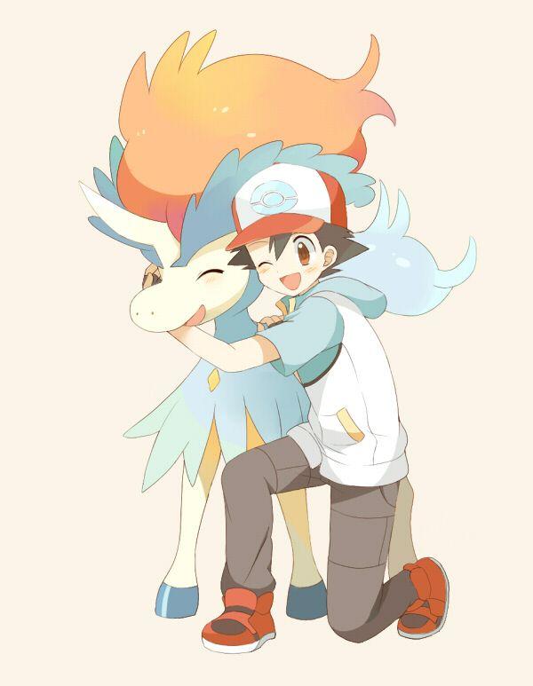 Ash and Keldeo