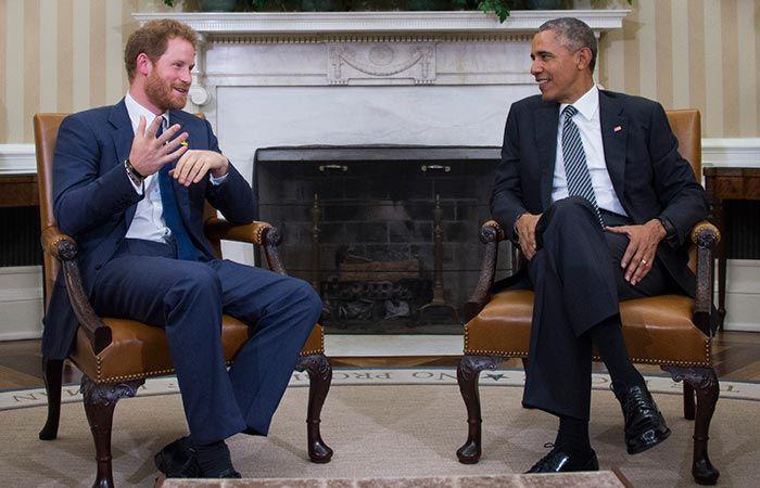 El Príncipe Harry fue a la Casa Blanca para conocer al Presidente Obama y hablar de los Invictus Games.