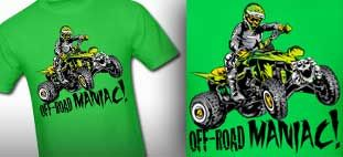 ATV shirt for sale at $16.00 Its so cool to ride like a pro and show your spirit. You can buy this shirt at http://offroadstyles.spreadshirt.com/atv-quad-off-road-maniac-dark-I12447888