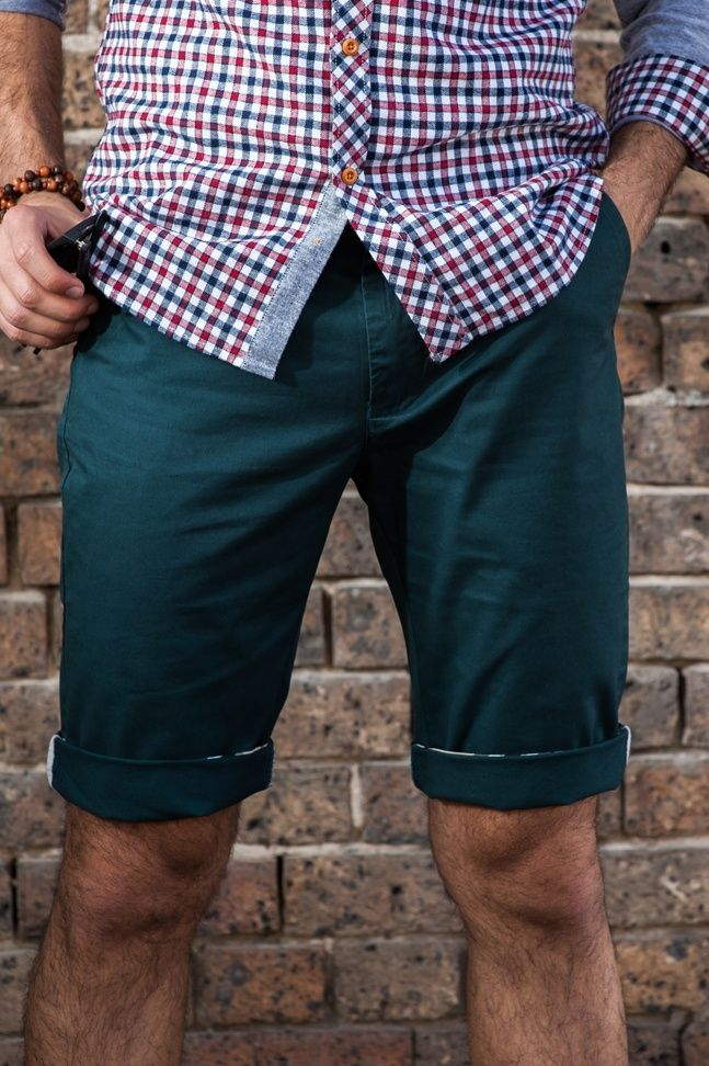 Men's Slim Fit Chino Shorts – Emerald Green. $49.95   http://sieteclothingco.com.au/shop/mens-shorts/