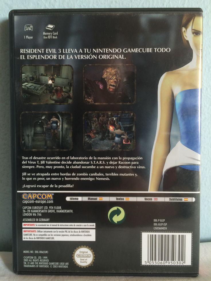 Resident Evil 3 Nemesis game behind.