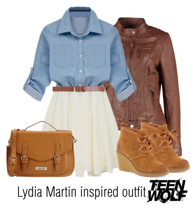"""""""Lydia Martin inspired outfit/Teen Wolf"""" by tvdsarahmichele ❤ liked on Polyvore featuring Maison Boinet, Kelsi Dagger Brooklyn and Georges Rech"""
