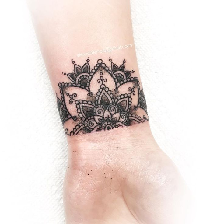 "202 Likes, 10 Comments - Alexx Colombo (@alexxtattoos) on Instagram: ""super tiny half mandala on the wrist ✨ . . . . . #tattoo #tattoos #tattoolous #mandala #wristtattoo…"""