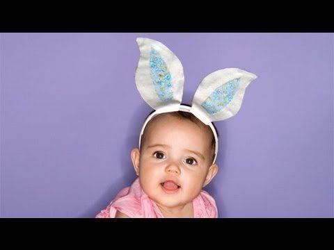 Orejas para disfraz de conejo. Manualidades para carnaval