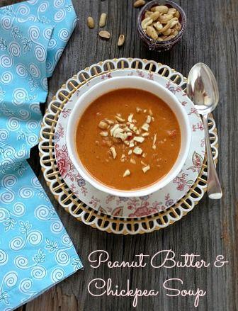 Peanut Butter & Chickpea Soup via www.MealMakeoverMoms.com/Kitchen #Vegetarian #Soup #PeanutButter