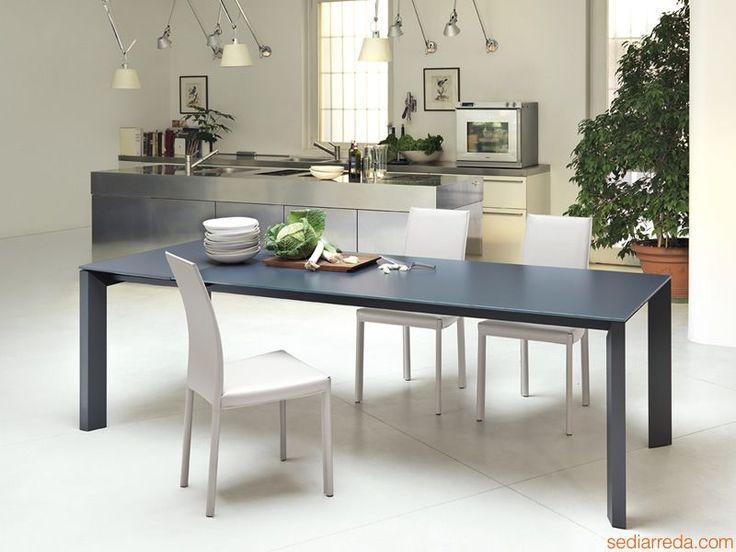 Apollo | Tavolo allungabile in metallo, diversi ripiani e finiture disponibili