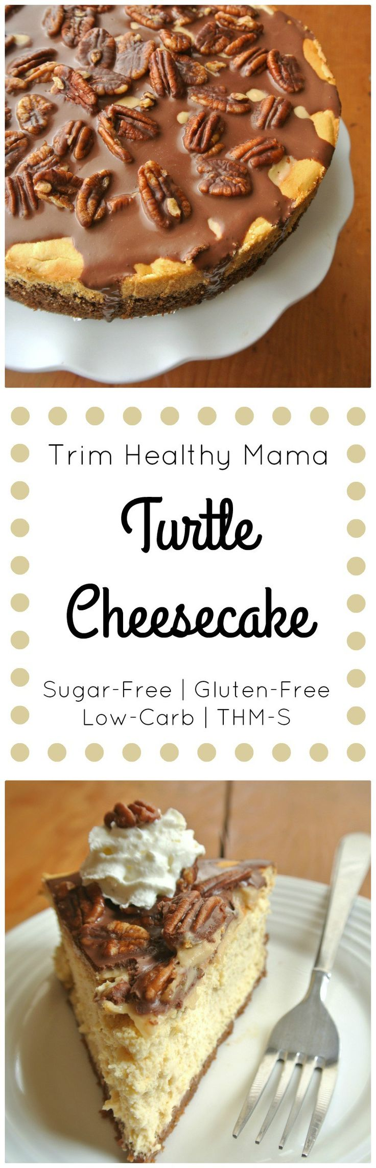 THM Turtle Cheesecake {S} - perfect for birthdays and special events! | MargeauxVittoria.com