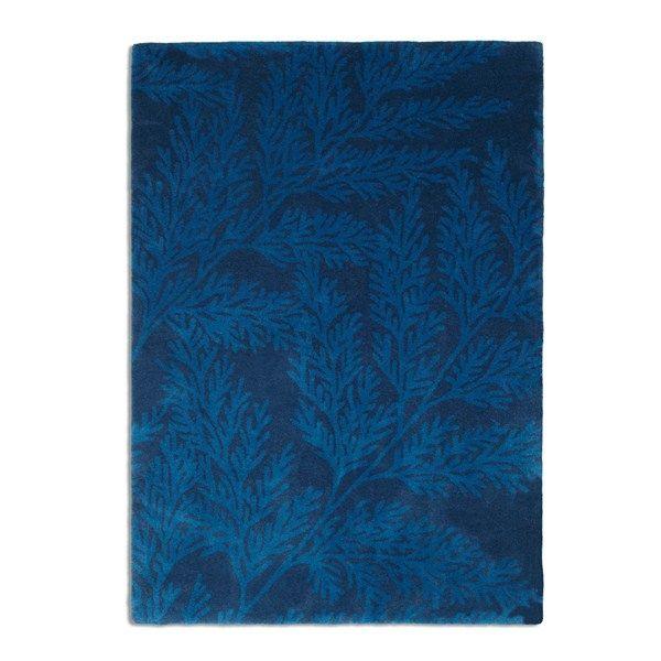 Leaf rugs lea02 blue buy online from the rug seller uk