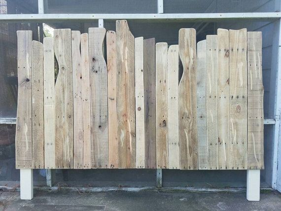 Driftwood Style Reclaimed Wood Headboard by HandHCustomWoodworks                                                                                                                                                                                 More