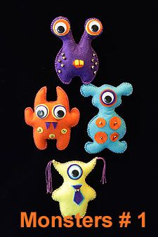 Pictures of felt monsters for inspiration