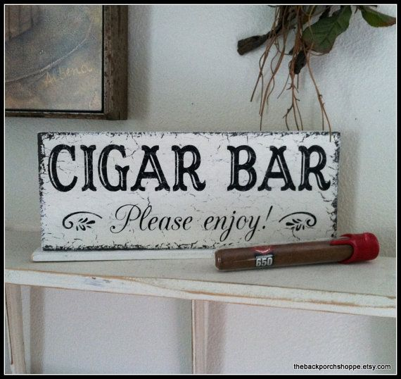 CIGAR BAR Please enjoy Self Standing Sign / by thebackporchshoppe