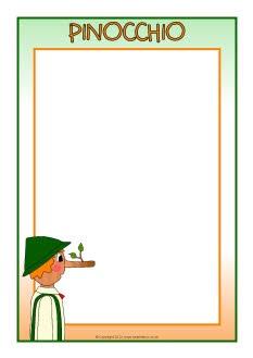 Pinocchio A4 page borders (SB8820) - SparkleBox