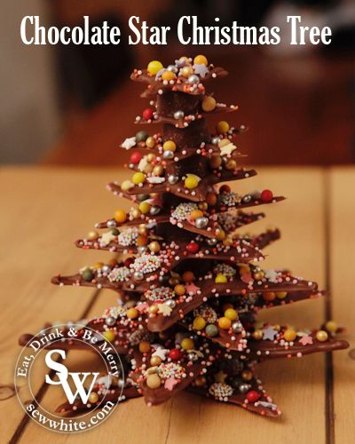 Chocolate Star Christmas Tree | Sew White