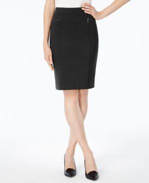 Alfani Ponte Pencil Skirt, Created for Macy's - Black 12