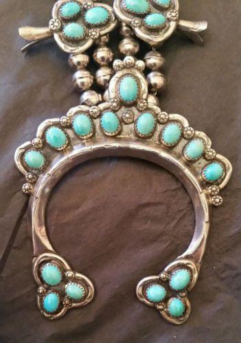 Vintage-Lone-Mt-Turquoise-Squash-Blossom-Necklace
