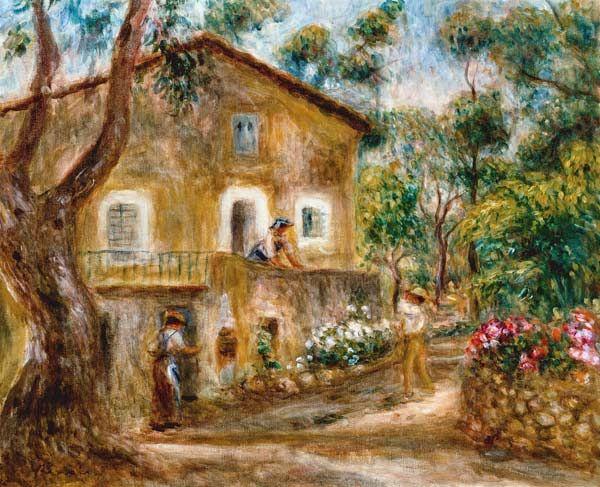 Titre de l'image : Pierre-Auguste Renoir - la maison de Collettes à Cagnes.