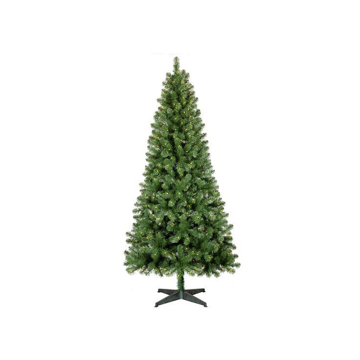 7ft Prelit Slim Artificial Christmas Tree Alberta Spruce Clear Lights - Wondershop, Green