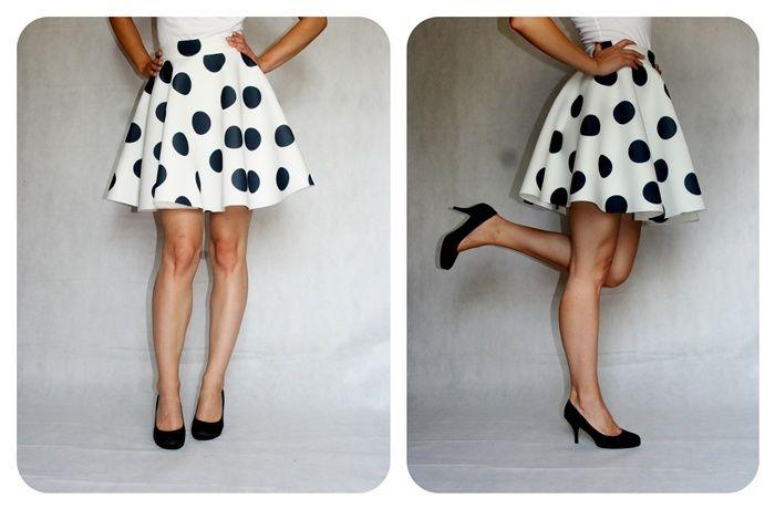 Piękna spódniczka piankowa w kropki www.facebook.com/matmari.pracownia