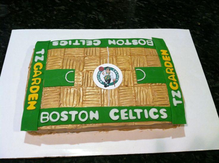 17 Best Images About Boston Celtics Cakes On Pinterest
