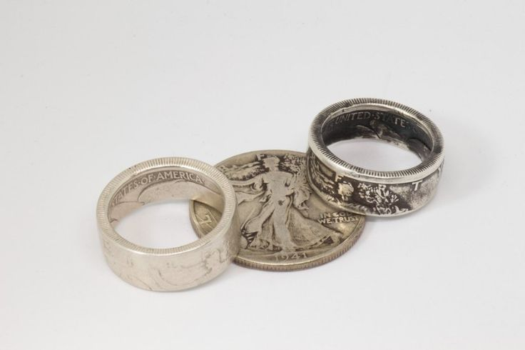 Coin Ring - Silver Walking Liberty Half Dollar