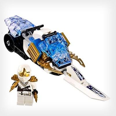 Lego ninjago zane zx with snowmobile from set 9445 - Ninjago lego zane ...