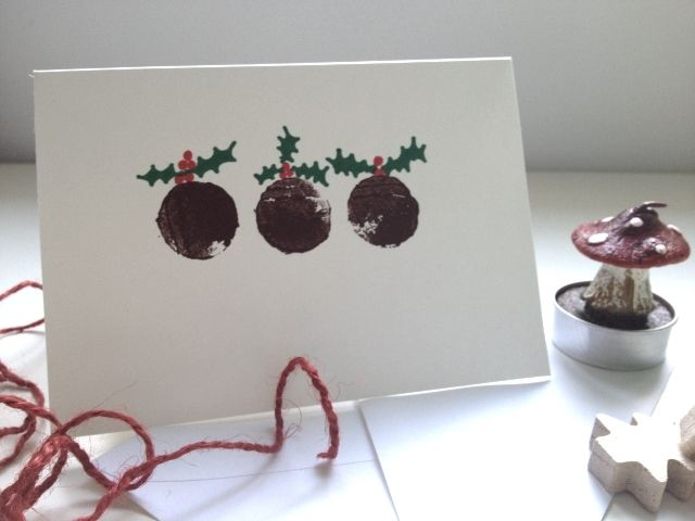 Craft Advent: Day 5 : Cork Stamped Christmas Card |Where Wishes Come From