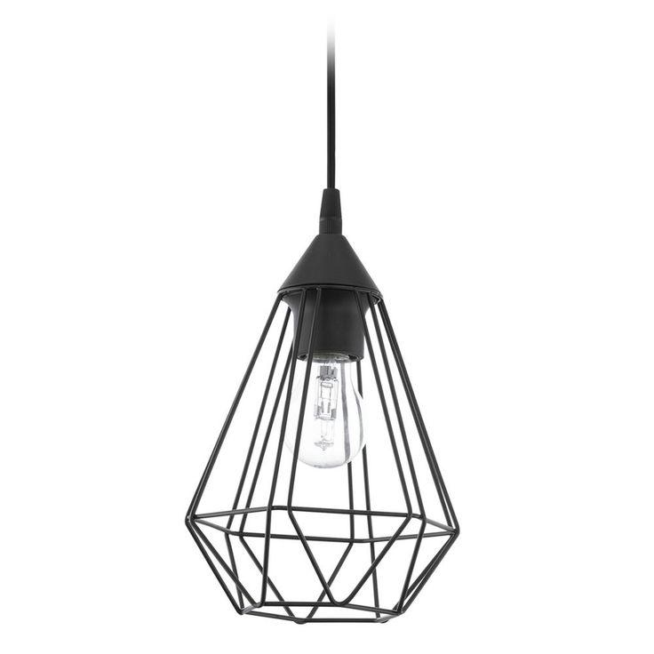 Eglo Lighting Eglo Tarbes Matte Black Mini-Pendant Light with Bowl / Dome Shade 94187A
