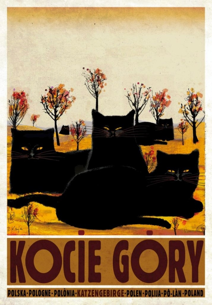 Everything about this poster works with our house! Kocie Gorie  Poland  Ryszard Kaja