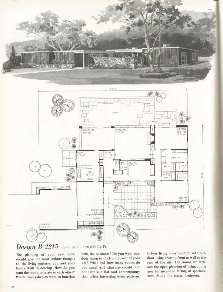 Find This Pin And More On 40s 50s 60s 70s Home Buying Vintage House Plans