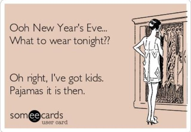 Hahaha... Seriously though. I spent this New Years Eve with the kids. The Hubs went to Motley Crue, lol
