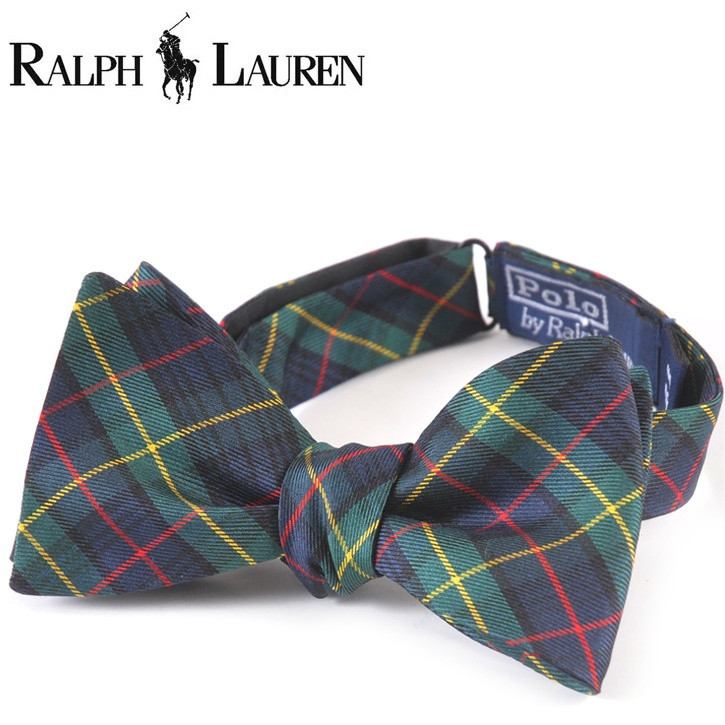 Polo Ralph Lauren(ポロラルフローレン) ボウタイ グリーン×ネイビー チェック og-rl-070